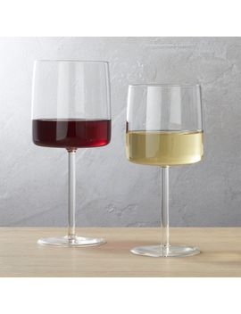 Shade Clear Wine Glasses by Crate&Barrel