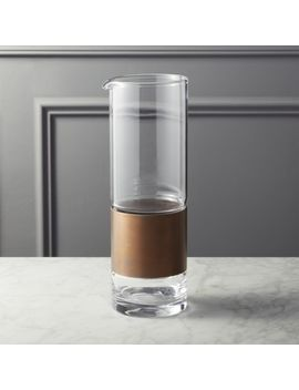 Band Round Glass Pitcher by Crate&Barrel