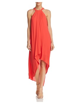 Lanna Draped High/Low Dress   100 Percents Exclusive by Bcbgmaxazria