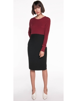 Twill Pencil Skirt by Cue