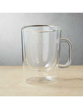 Foam Double Wall Glass Cappuccino Mug by Crate&Barrel