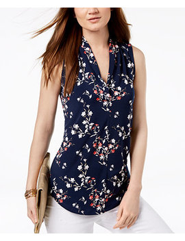 Printed Sleeveless Top, Created For Macy's by Charter Club