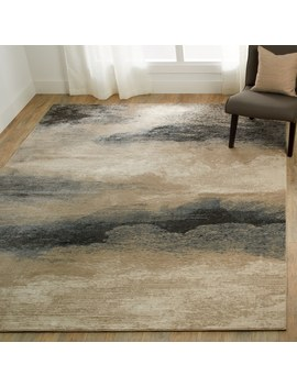Nourison Maxell Ombre Charcoal/Beige Rug by Nourison