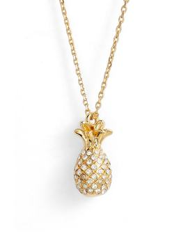 By The Pool Pavé Pineapple Pendant Necklace by Kate Spade New York