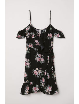 Wrap Dress With Flounces by H&M