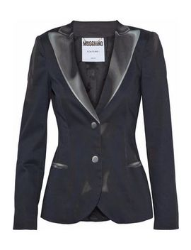 Printed Cotton Blend Blazer by Moschino