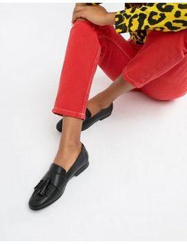 Monki Tassel Detail Loafer In Black by Monki