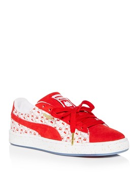 Women's Hello Kitty Classic Suede & Leather Lace Up Sneakers by Puma
