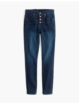 "9"" High Rise Skinny Jeans In Hayes Wash: Button Front Edition by Madewell"