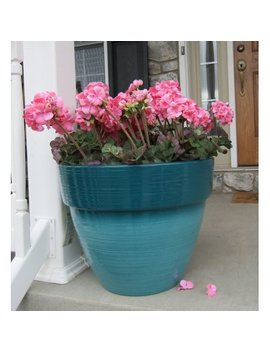 "Better Homes And Gardens Dubai 19"" Decorative Outdoor Resin Planter, Teal by Better Homes & Gardens"