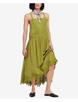In Your Arms Cotton Appliqué Dress by Free People