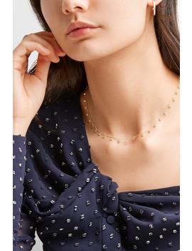 By The Inch 18 Karat Gold Diamond Necklace by Jennifer Meyer