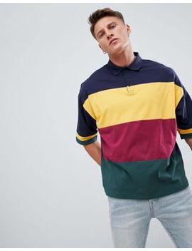 Asos Design Oversized Polo Shirt With Colour Block by Asos Design