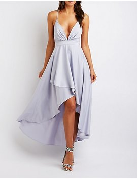 High Low Wrap Maxi Dress by Charlotte Russe
