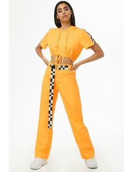 Windbreaker Crop Top & Pants Set by Forever 21
