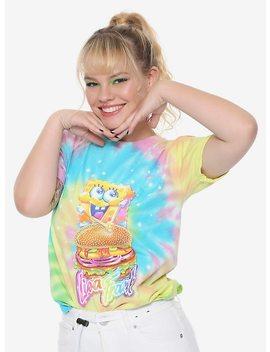Lisa Frank X Sponge Bob Square Pants Krabby Patty Tie Dye Girls T Shirt Hot Topic Exclusive by Hot Topic