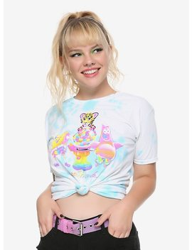 Lisa Frank X Sponge Bob Square Pants Gumball Girls Knotted T Shirt Hot Topic Exclusive by Hot Topic