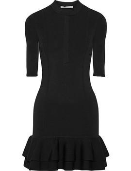 Aubrey Ruffled Tech Knit Mini Dress by Veronica Beard