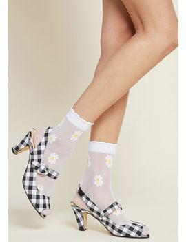 Share And Sheer Alike Socks by Modcloth