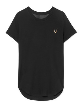 kubrick-mesh-paneled-stretch-t-shirt by lucas-hugh