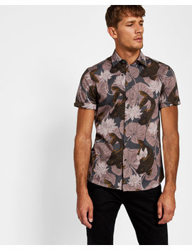 Oversized Carp Print Cotton T Shirt by Ted Baker