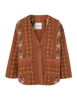 Embroidered Cotton Canvas Jacket by Madewell