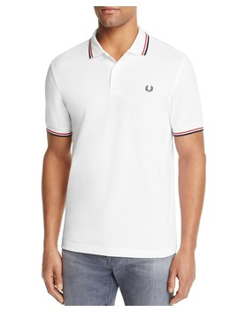 Tipped Logo Slim Fit Polo Shirt by Fred Perry