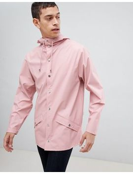 Rains 1201 Jacket In Pink by Rains