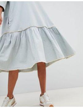 Waven Stripe Dropped Hem Dress by WÅven