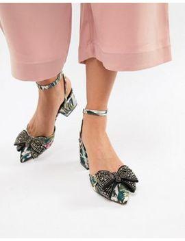 Asos Design Santino Embellished Mid Heels by Asos Design