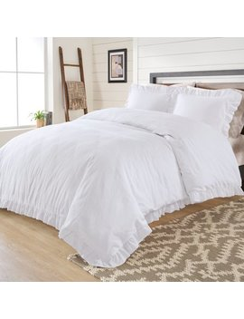 Better Homes And Gardens 3 Piece Raw Edge Ruffle Duvet Cover Set by Better Homes & Gardens