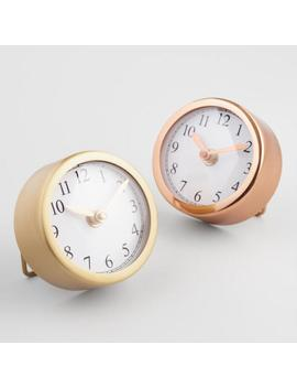 Small Round Gold Clocks Set Of 2 by World Market