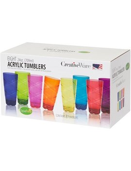 Circus 24 Ounce Multi Colored Tumbler Set, Set Of 8 by Circus