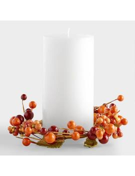 Berry And Burlap Pillar Candle Ring by World Market