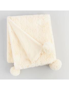 Diamond Faux Fur Throw Blanket by World Market