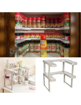 2017 New Adjustable Spicy Shelf Patented Spice Rack And Stackable Organizer by Outad