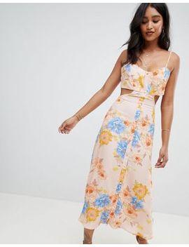 Flynn Skye Bloom Cut Out Midi Dress by Flynn Skye