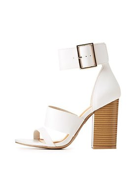 Thick Ankle Strap Sandals by Charlotte Russe