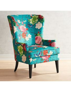 Flynn Floral Print Chair by Asher Collection