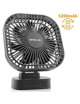 Opolar Battery Operated Fan, 5200m A Rechargeable Battery Powered Fan, Strong Wind But Quiet, Timer Setting, Usb Or Battery Powered For Office Or Outdoor, Small Mini Personal Desk Fan by Opolar