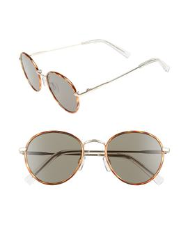 Zephyr Deux 50mm Round Sunglasses by Le Specs