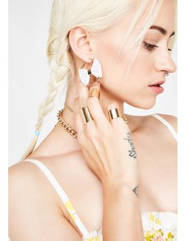 Prissy Bish Bow Hoops by Fame Accessories