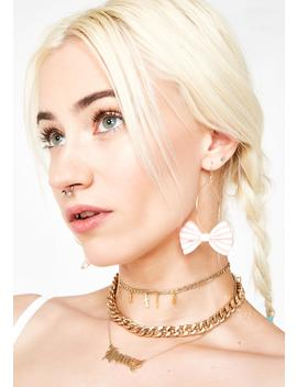Bow Down Hoop Earrings by Fame Accessories