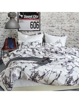 "Rhea Choice Marble Design Printed Duvet Cover Set,3 Pieces Stylish Brushed Microfiber Bedding Set With Zipper And Corner Ties   King Size (104""X90"") by Rhea Choice"
