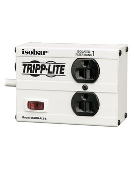Tripp Lite Isobar 2 Outlet Surge Protector Power Strip, Direct Plug In, Metal, Lifetime Limited Warranty & $10,000 Insurance (Isoblok2 0) by Tripp Lite