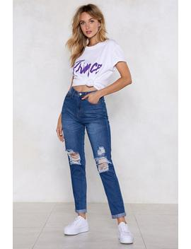 Asking For Trouble Distressed Jeans by Nasty Gal