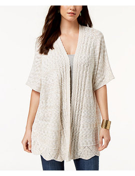 Pointelle Open Front Cardigan, Created For Macy's by Style & Co