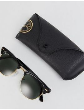Ray Ban Clubmaster Sunglasses With Polarised Lens by Ray Ban