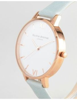 Olivia Burton Ob16 Bdw36 White Dial Leather Watch In Sage by Olivia Burton