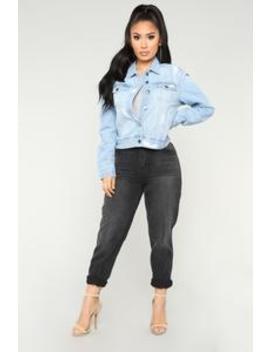 Current Vogue Denim Jacket   Medium Wash by Fashion Nova
